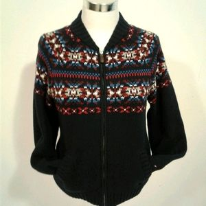 TOMMY HILFIGER cowichan jacket L SWEATER cardigan